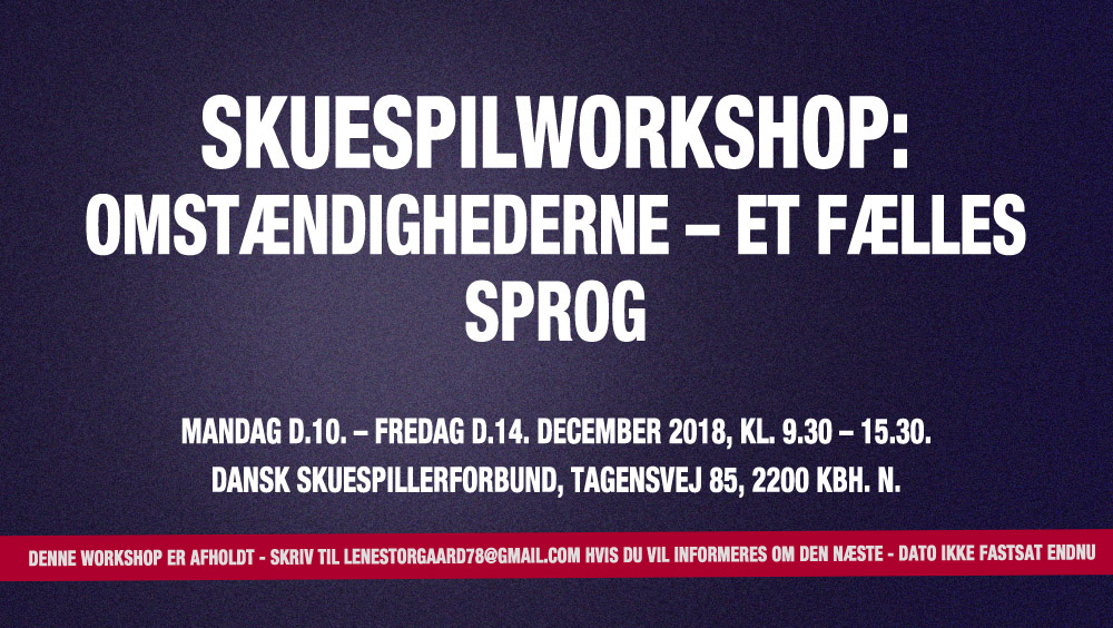 skuespiller workshop